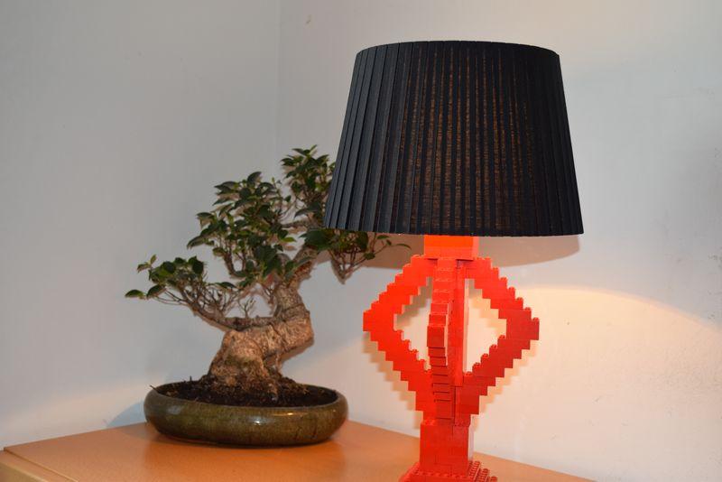 Lampe Aus Lego Selber Machen Rote Diy Tischleuchte Wonoro