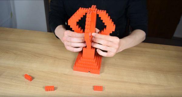 Legolampezusammenbau